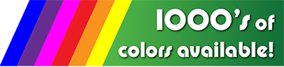 Thousands of powder coating colors available!